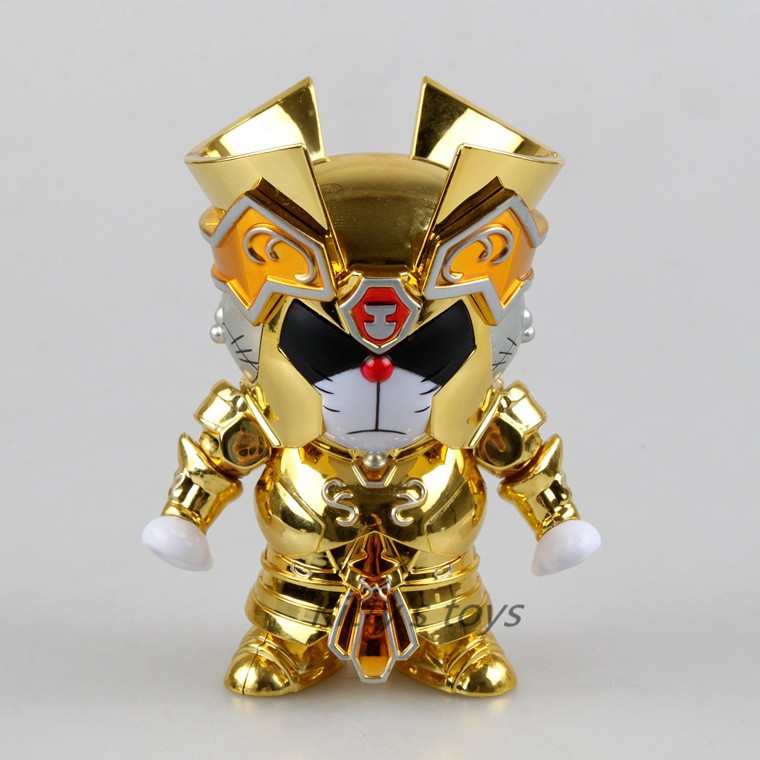 Free Shipping Cute 4 Doraemon DoraCat Cosplay Gemini Saint Seiya Myth Cloth Gold Ex PVC Action Figure Collection Model Doll Toy
