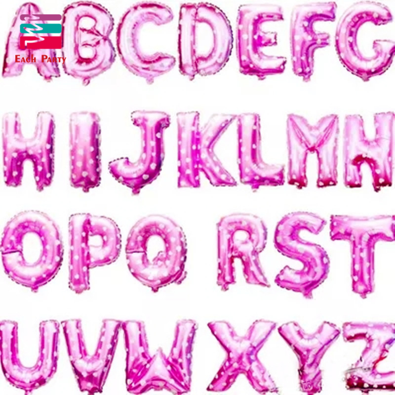 16 inch pink letter a to z alphabet foil balloons letter for Alphabet decoration