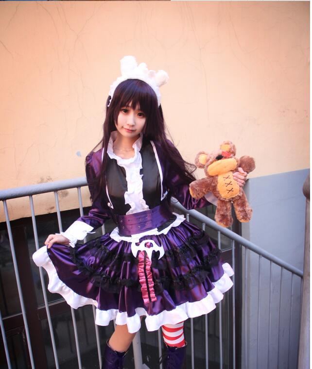 LOL full set Gothic Lolita Annie Dress Uniform Maid Outfit Anime Cosplay  Costumes lolita Halloween Costumes with bear doll-in Game Costumes from  Novelty ... 3ef74c301