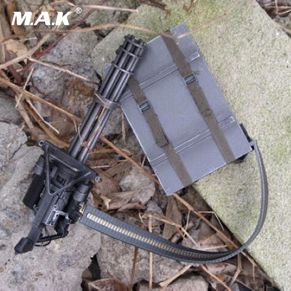 1/6 Scale M134 Heavy Machine Weapons Gun Model Toys Minigun TERMINATOR Gatling 8018 For 12 Figure Body Accessory ...