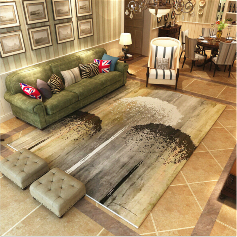 Modern Creative Scenic Polyester Carpets For Living Room Bedroom Kid Room Area Rug New Fashion Home Floor Carpet Rugs Door Mat