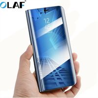 Olaf Smart Case Mirror Clear View Cover For HuaWei Mate 10 10 Pro Smart Flip Case