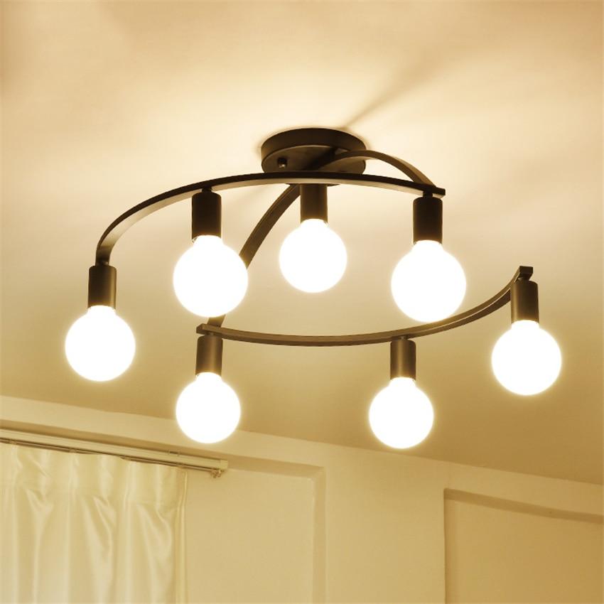 Nordique Led E27 Loft lustres chambre salon fer suspension lampe éclairage maison verre suspendus lampes suspendues luminaires déco