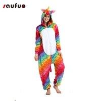 Kigurumi Red Fish Unicorn Pajamas Costume For Woman Unisex Adult Cartoon Onesie Winter Anime Cosplay Pijama
