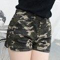 Новый дизайн женщин шорты камуфляж лето повседневная мода slim fit дизайн мягкие и удобные