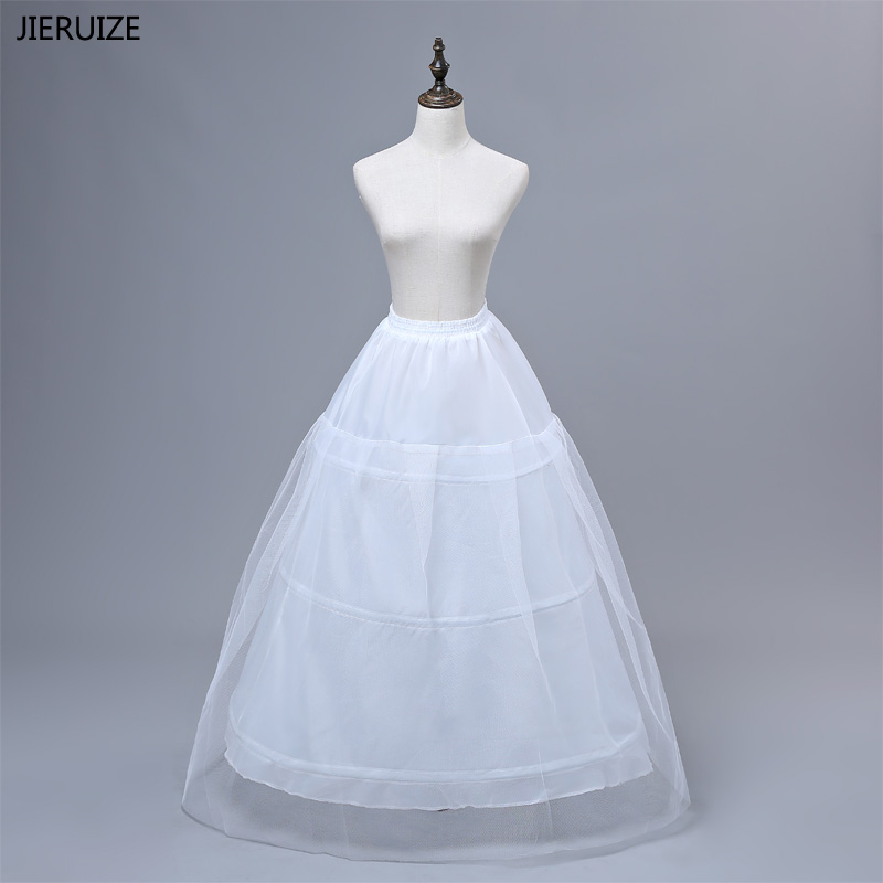 Capable Jieruize In Stock Free Shipping High Quality White Petticoats 3 Hoops Wedding Accessories For Wedding Dresses Bridal Gowns
