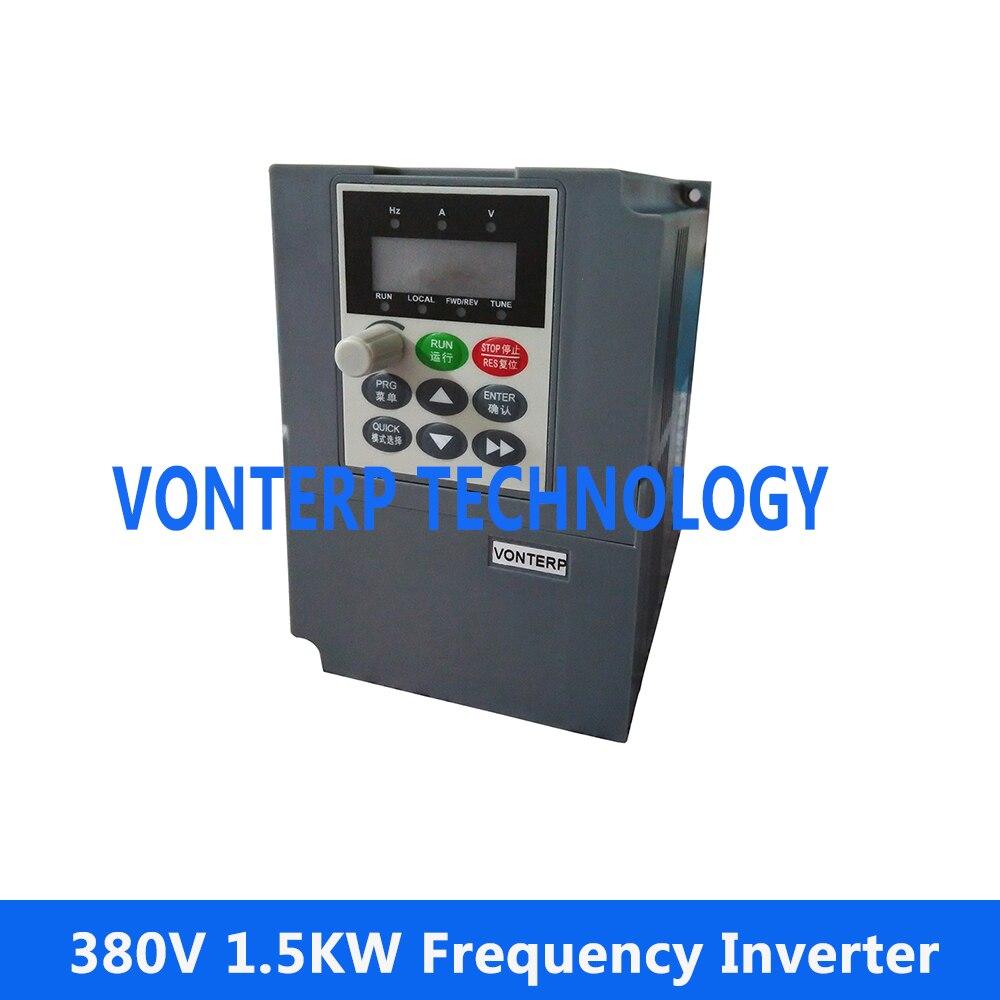 Преобразователь частоты, 1500 Вт (1,5 кВт) мощность, 380 В переменная частота приводов (VFD) для 1,5 кВт двигатель переменного тока контроль скорости