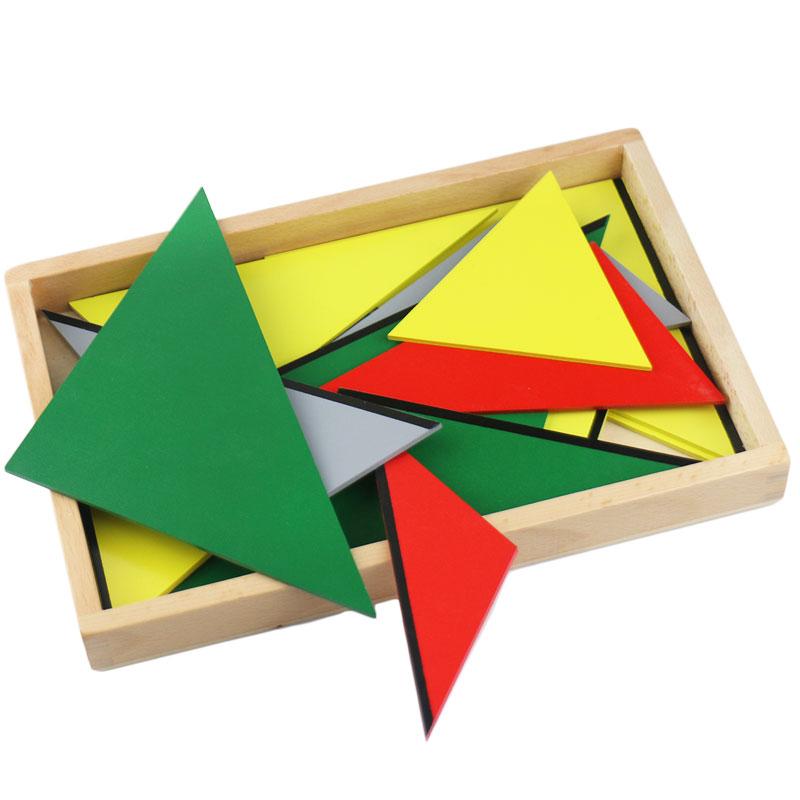 Montessori maths jouets Montessori matériaux préscolaire géométrie Constructive Triangles couleur équilatérale Triangle UD2065H - 5