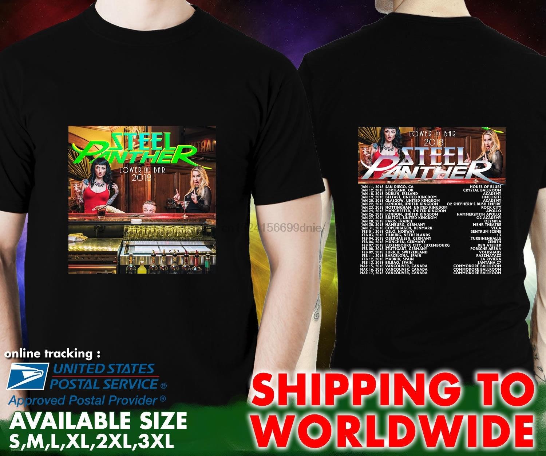 New Steel Panther Logo Metal Rock Band Men S Black T Shirt Size S