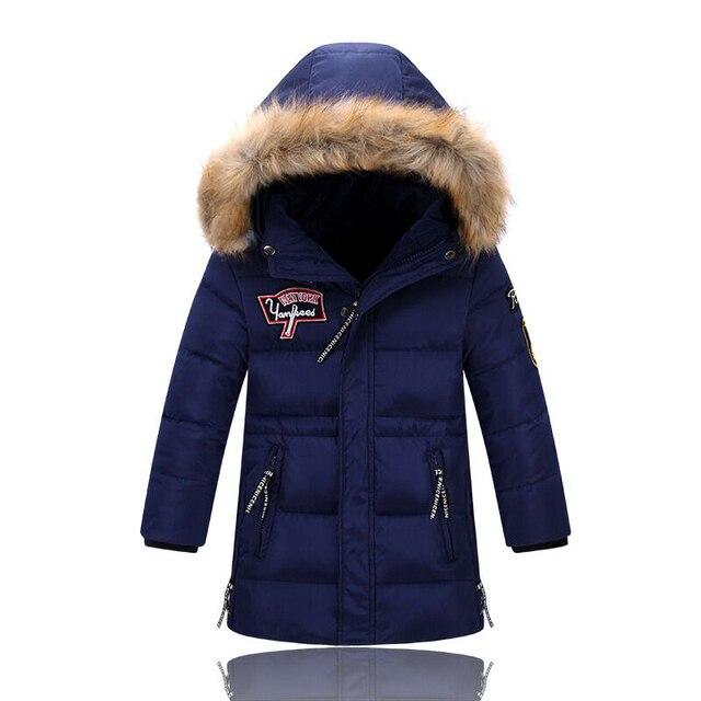Детские зимние куртки хлопка мягкой детской одежды большие мальчики теплая зима Девочка вниз пальто утолщение верхней одежды