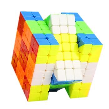 Qiyi Wuji 7x7x7 Cube Black/Stickeless 7x7 Magic Cube Qiyi Mofangge Speed Cube Professional Speed Magico Cubo
