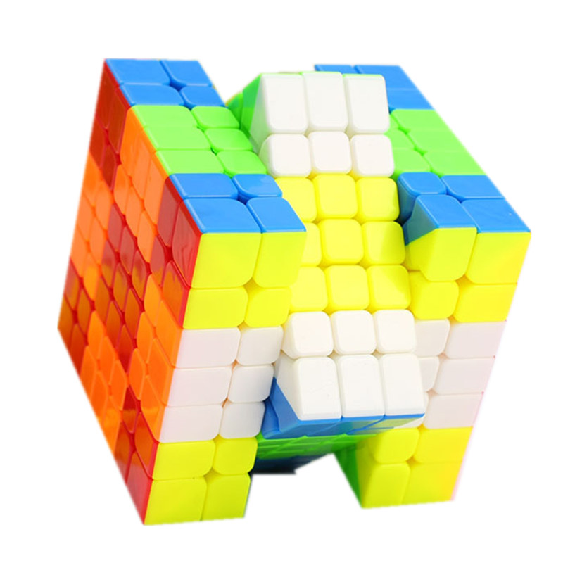 Qiyi Wuji 7x7x7 Cube Noir/Stickeless 7x7 Magique Cube Qiyi Mofangge Vitesse Cube professionnel Vitesse Magico Cubo