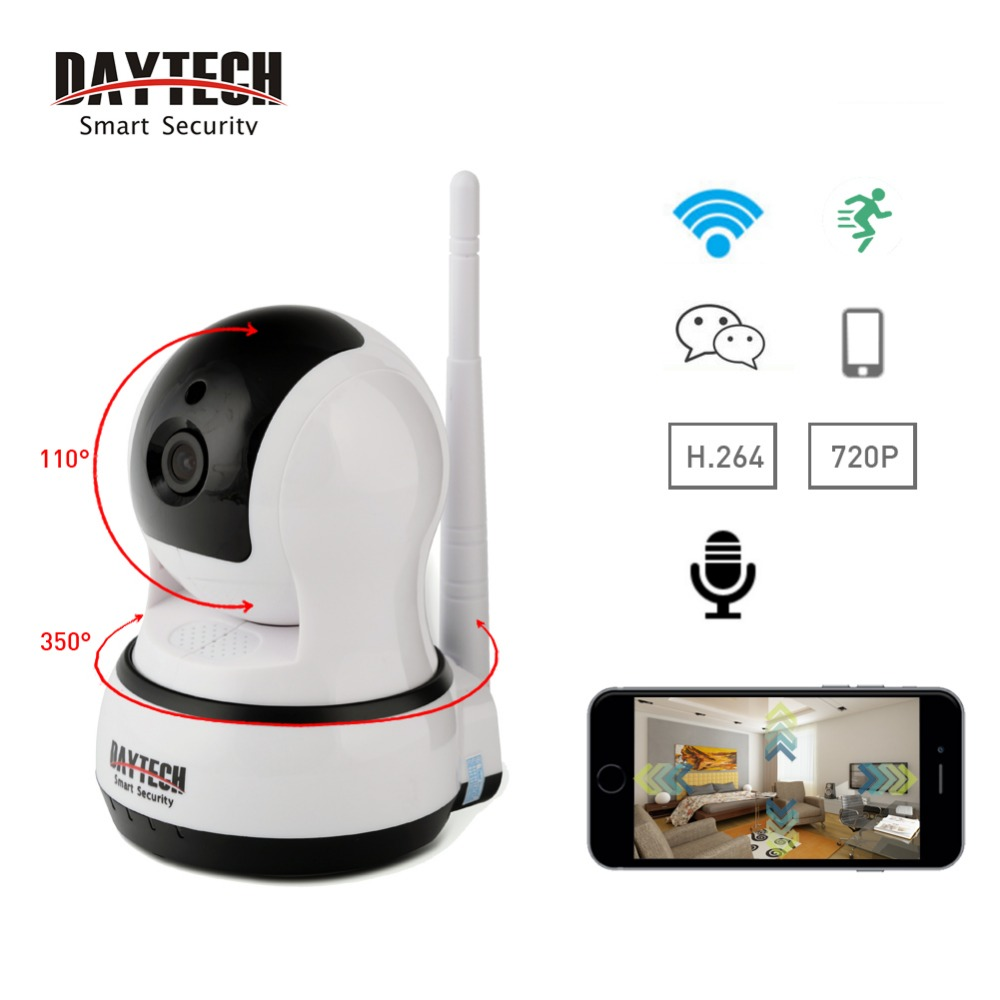 ФОТО DAYTECH WiFi Camera IP Home Surveillance Camera Baby Monitor Two Way Intercom Day Night Vision 720P HD Network Video CCTV Indoor