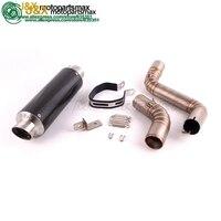 Motorcycle Leovince Exhaust middle Pipe + Muffler full system for KTM DUKE125 DUKE200 DUKE250 DUKE390 2012~2014 Slip On