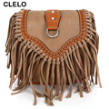 CLELO women bag PU Women Messenger Bags Vintage Handbags Cross Body Shoulder Bag Bolsa Feminina Tote bolsa feminina