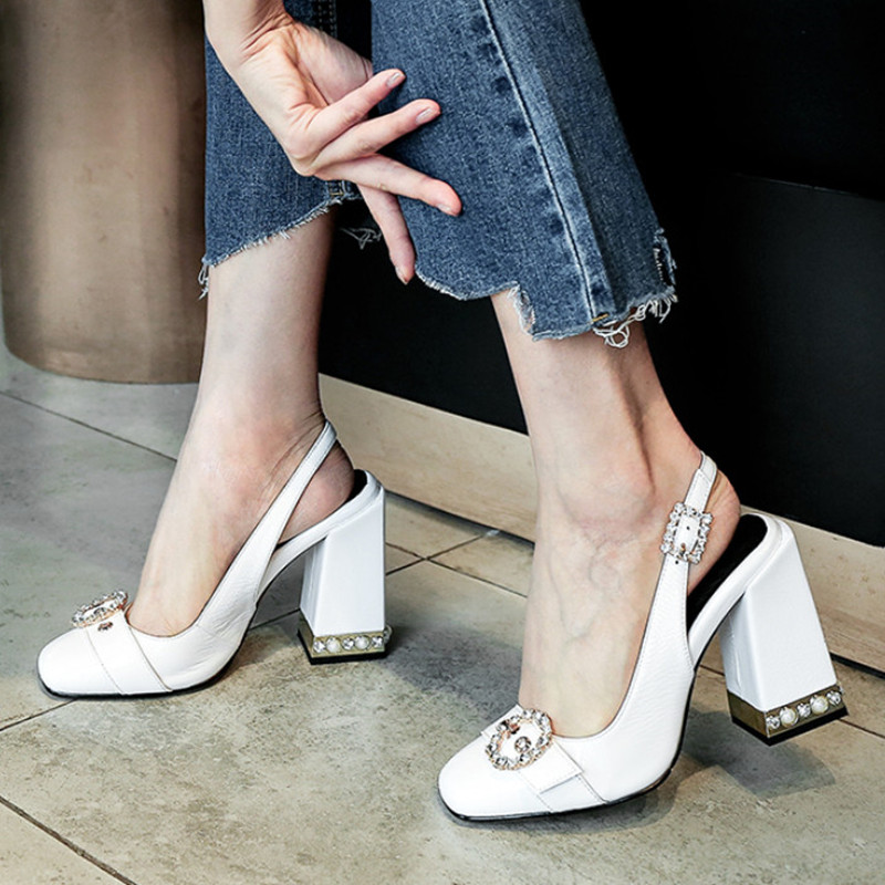 Brand New Patent Leather Shoes Women High Heels Rhinestone Slingback Shoes Summer Women Pumps Crystal Ladies Shoes High QualityBrand New Patent Leather Shoes Women High Heels Rhinestone Slingback Shoes Summer Women Pumps Crystal Ladies Shoes High Quality