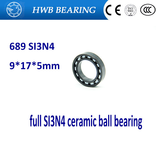 Free shipping 689 full SI3N4 ceramic deep groove ball bearing 9x17x5mm for bike part sinix 689