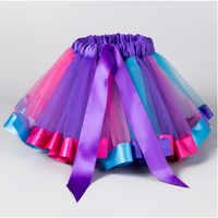 Ajlong/юбка-пачка принцессы Одежда для маленьких девочек Радужная детская Праздничная юбка-пачка для девочек детское бальное платье