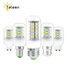 TSLEEN 1Pcs Full NEW LED lamp E27 E14 GU10 G9 B22 SMD 5730 Corn Bulb Chandelier LEDs Candle light Spotlight For Home Decoration