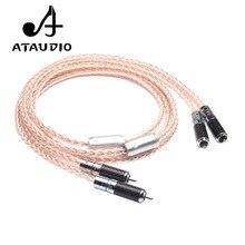 ATAUDIO 7N OCC Bạc và Đồng Hifi RCA Cáp Hi end 2RCA Nam đến Nam Interconnect Cable 1 m 2 m 3 m