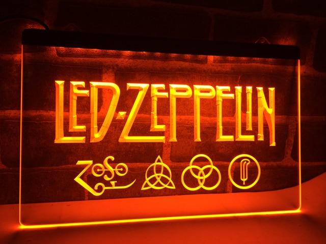 LF002 Zeppelin Rock N Roll Punk LED Neon Light Sign Home Decor Crafts