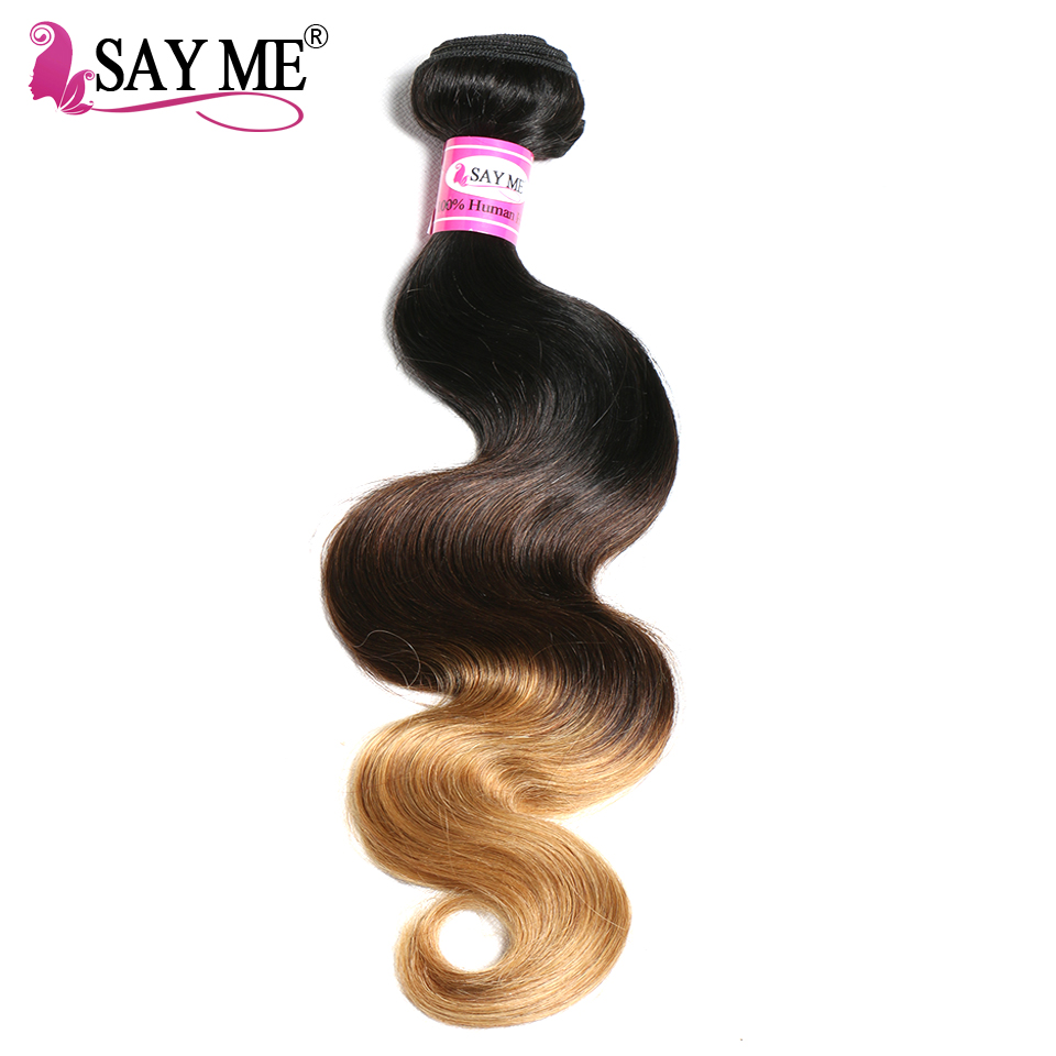 SAY ME Ombre Brazilian font b Hair b font Body Wave 1b 4 27 Blonde Non