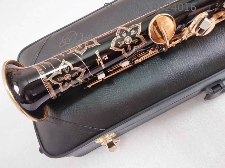 wholesale Custom Yanagisawa Soprano Saxophone 901 B flat black Nickel Gold Brass musical instruments Soprano Saxophone shipping yanagisawa s901 gold straight gold saxophone soprano b sax gold lacquer soprano saxophone