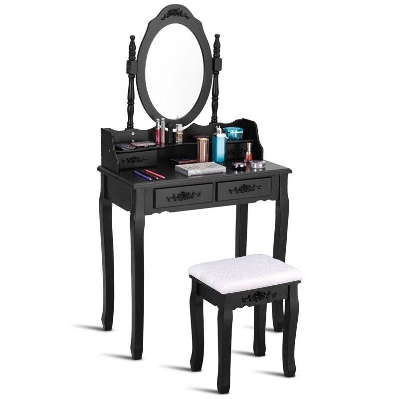 Зеркало для спальни деревянный туалетный столик табурет набор спальни Высококачественная Мебельная ручка HW52948 - 3