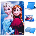 For iPad 2 Case Fashion Cartoon Anna Elsa Olaf PU Leather Wake up Sleep Smart Cover for Apple iPad air 1 2 5/6 for iPad 2 3 4