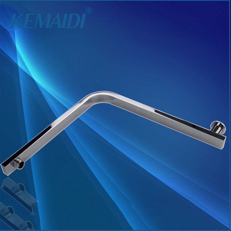 KEMAIDI Goose Neck Shape New Bathroom Brass Chrome Square Wall Mounted Shower Arm 5618 For Shower Head