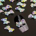 10 unids colorido 3D aleación Rhinestone del brillo del Bowknot Nail Art Salon Stickers Tips de bricolaje decoraciones Chic diseño 5GLL