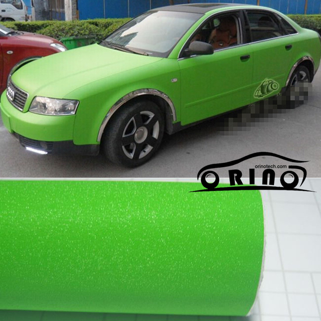 1.52x30m Roll Glitter Apple Green Vinyl Wrap With Air Bubble Free Car  wrapping Diamond f3ce154391eb