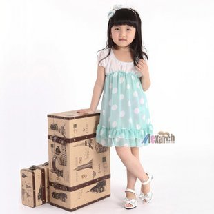 Free shipping!!Factory Direct! HOT SELLING! TOP QUALITY! Children's clothing fashion baby girls short-sleeved lace dress  A001