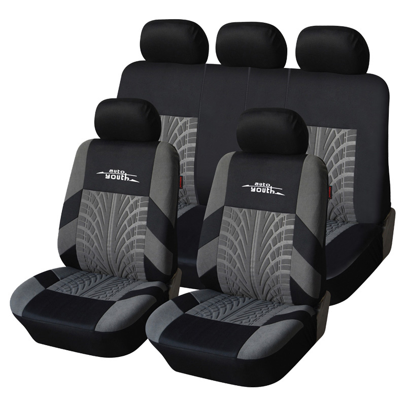 AUTOYOUTH Car Seat Cover Polyester Fabric Universal Automobile Seat Covers For Seat Protector Car Styling Interior