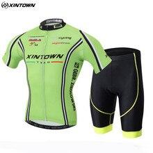 XINTOWN Bike Cycling Clothing With Bib Shorts Men Bicycle Team Cycling Jersey Sets Green Sportswear Roupa Ciclismo CC0611