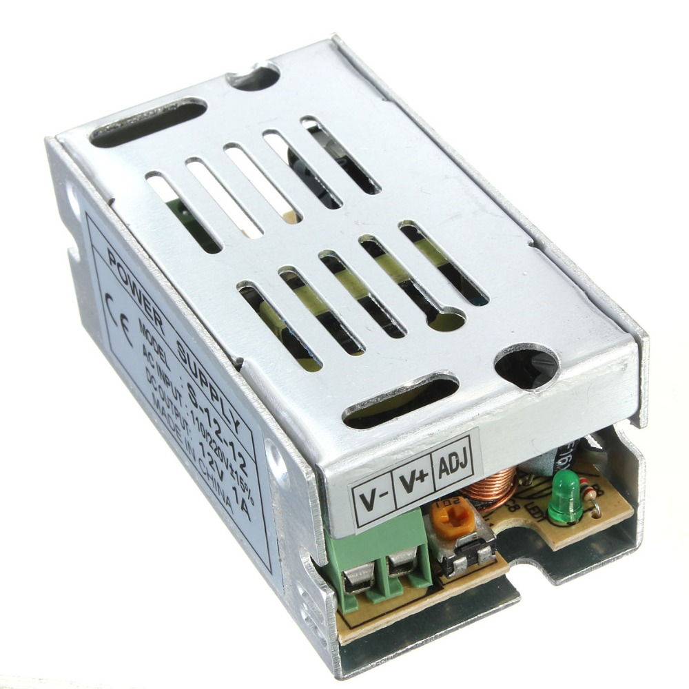 12W 12V 1A Switch Power Supply Switching Driver Adapter Voltage Transformer for Led Strip Light Display 110V/220V