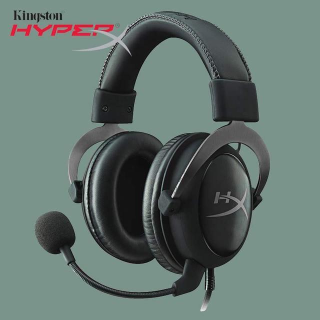 Kingston HyperX Gaming ชุดหูฟัง Cloud II Hi Fi 3.5 มม.เสียง/วิดีโอสำหรับ PC & PS4 ลำโพงไมโครโฟน xbox หูฟัง