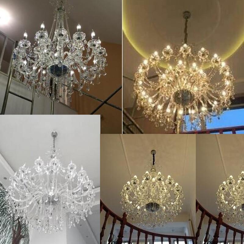 mūsdienu kristāla lustras viesnīcas zāles lustras apgaismojums - Iekštelpu apgaismojums - Foto 4
