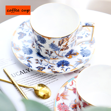 Fashion ceramic coffee cup set high quality bone china tea afternoon Saucer birthday gifts for friend