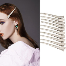 10 pcs Stainless Steel Duckbill Hair Clips For Girls Professional Salon Metal Hairpins Women Styling Tools Barrette