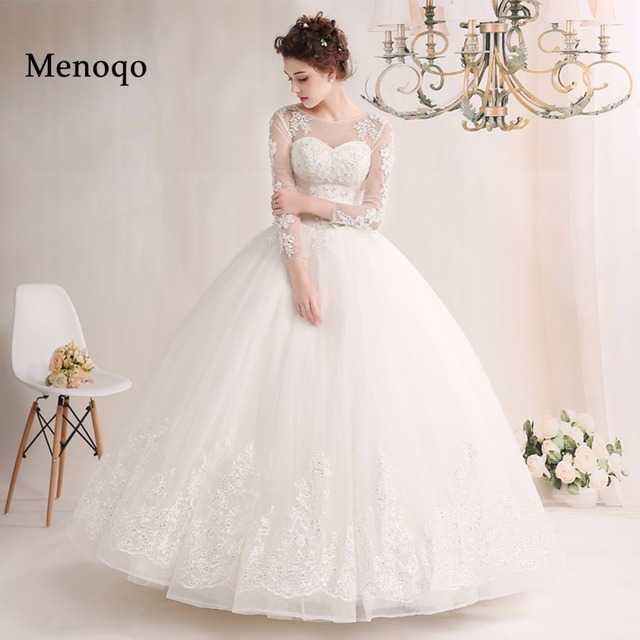 Vestido de boda novia largo