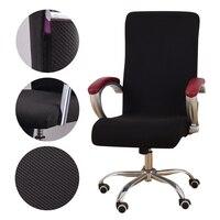 Universal jacquard tecido cadeira de escritório capa computador elástico poltrona slipcovers assento braço cadeira cobre estiramento rotativo elevador