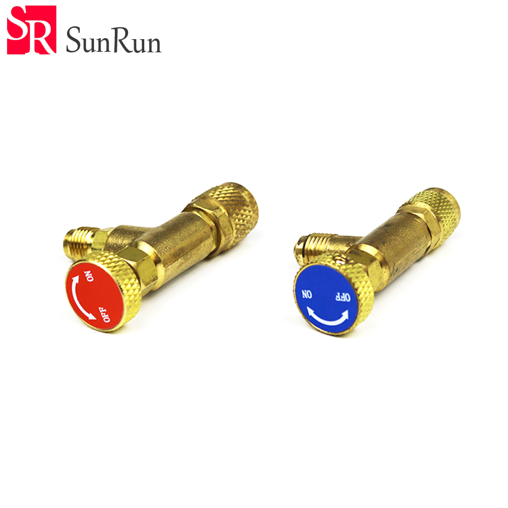 Refrigeration Charging Adapter HS-1221 R22/R410 For 1/4 SAE Male to 1/4SAE Famale Safety Adaptor air conditioning charging val 3pcs lot new r410 r22 air refrigeration charging adapter refrigerant retention control valve air conditioning charging valve