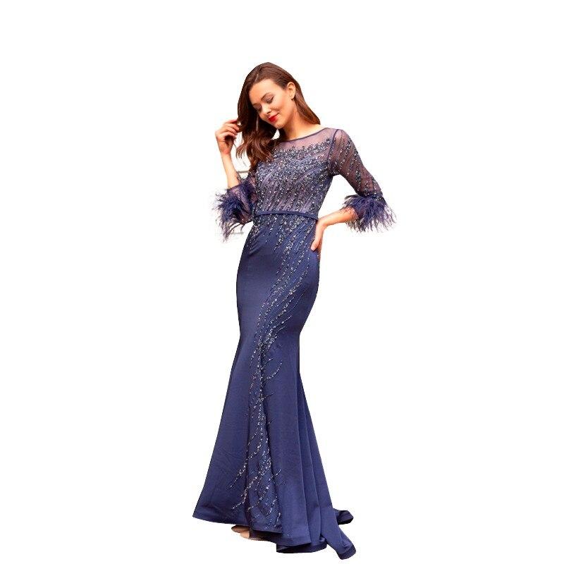 f04e5b9f88 HOT DEAL) New Elegant Halter Evening Dress 2019 Dark Gray Beaded ...