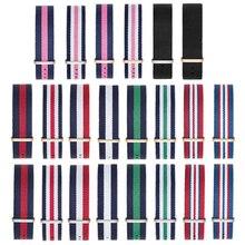 Купить с кэшбэком 1pcs Blue white red  Nato Strap 22mm Nylon Watch Band Waterproof Watch Strap On For Hours men watchbands