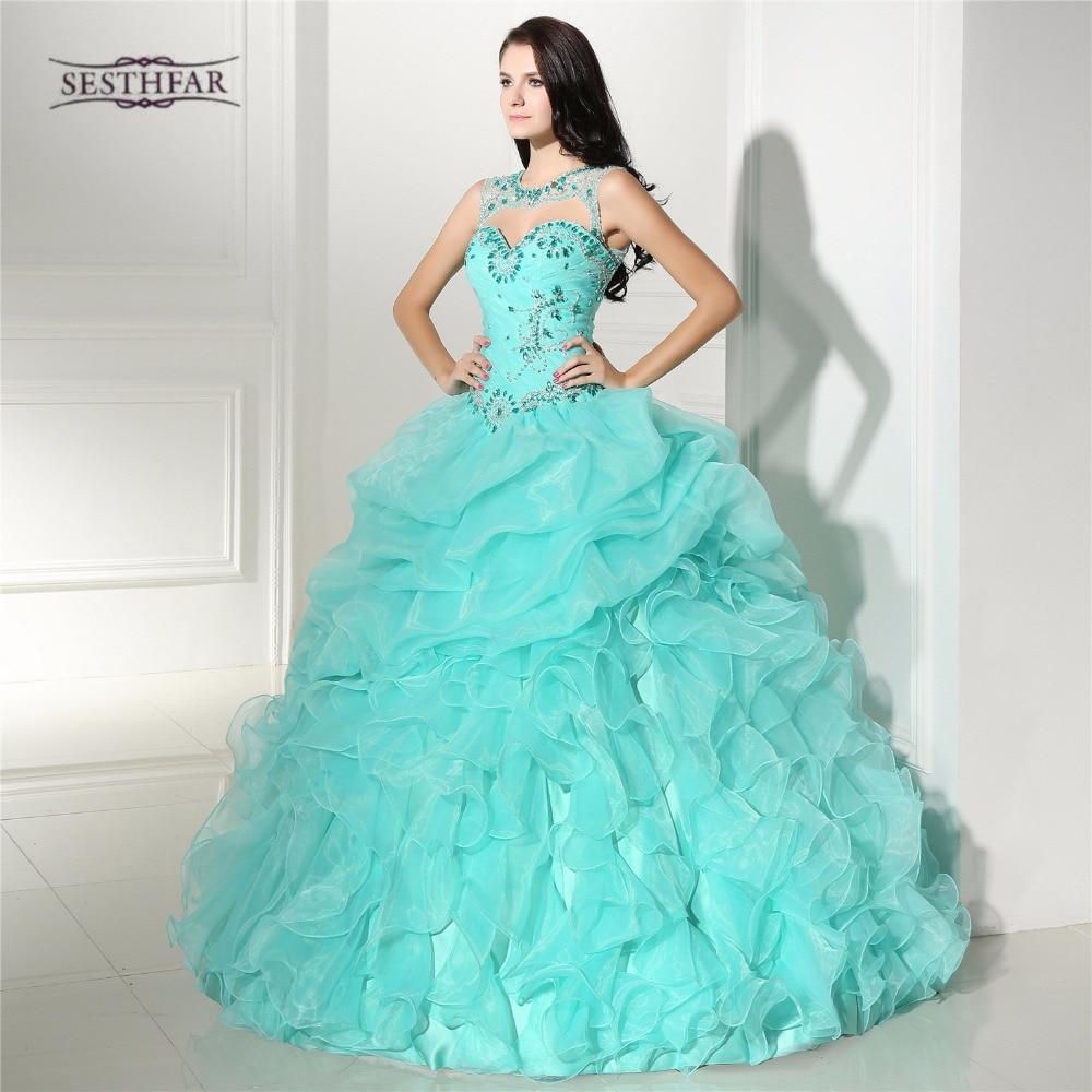 Lujo Crystal Corset vestido de Bola Vestidos de Novia de Novia ...