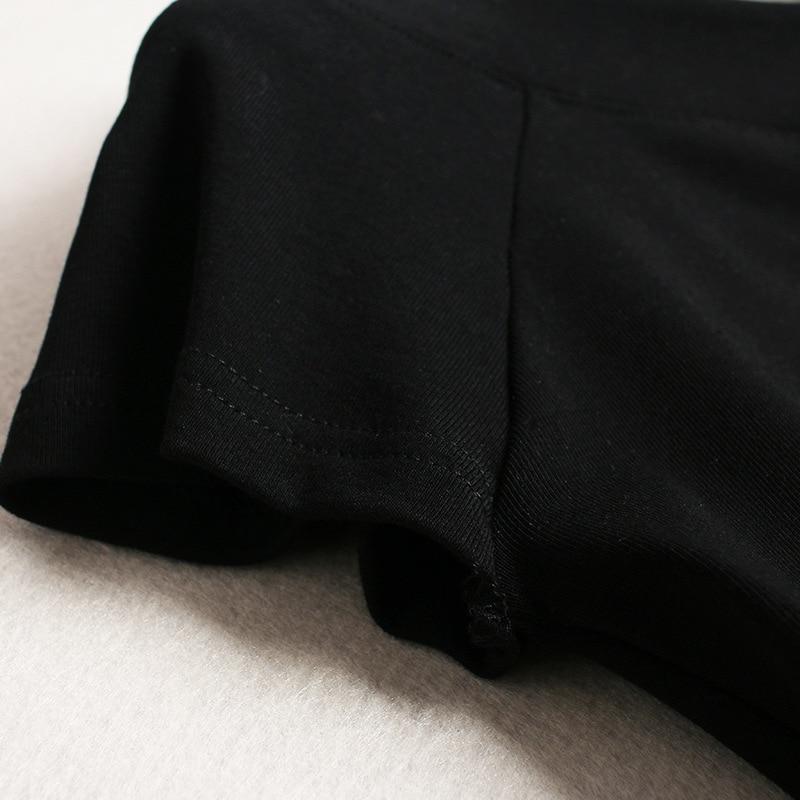 Ol Pièces De Manches Deux Recadrée En Tricotée Courtes Chemise Mode Top Mousseline Printted Crop 2019 D'été Noir Pantalon Ensemble 2 8vpqvXw