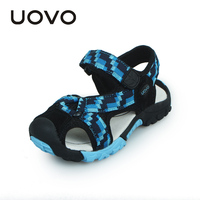 Hot UOVO Summer Embroidery Cotton Fabric Boys Sandals Top Pigskin Lining Sandalias 2015 Child Footwear High