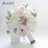 العاج الحرير زهور الفاوانيا باقة الزفاف باقة الورود للبيع الزفاف الشرف عقد الزهور الديكور ريفي