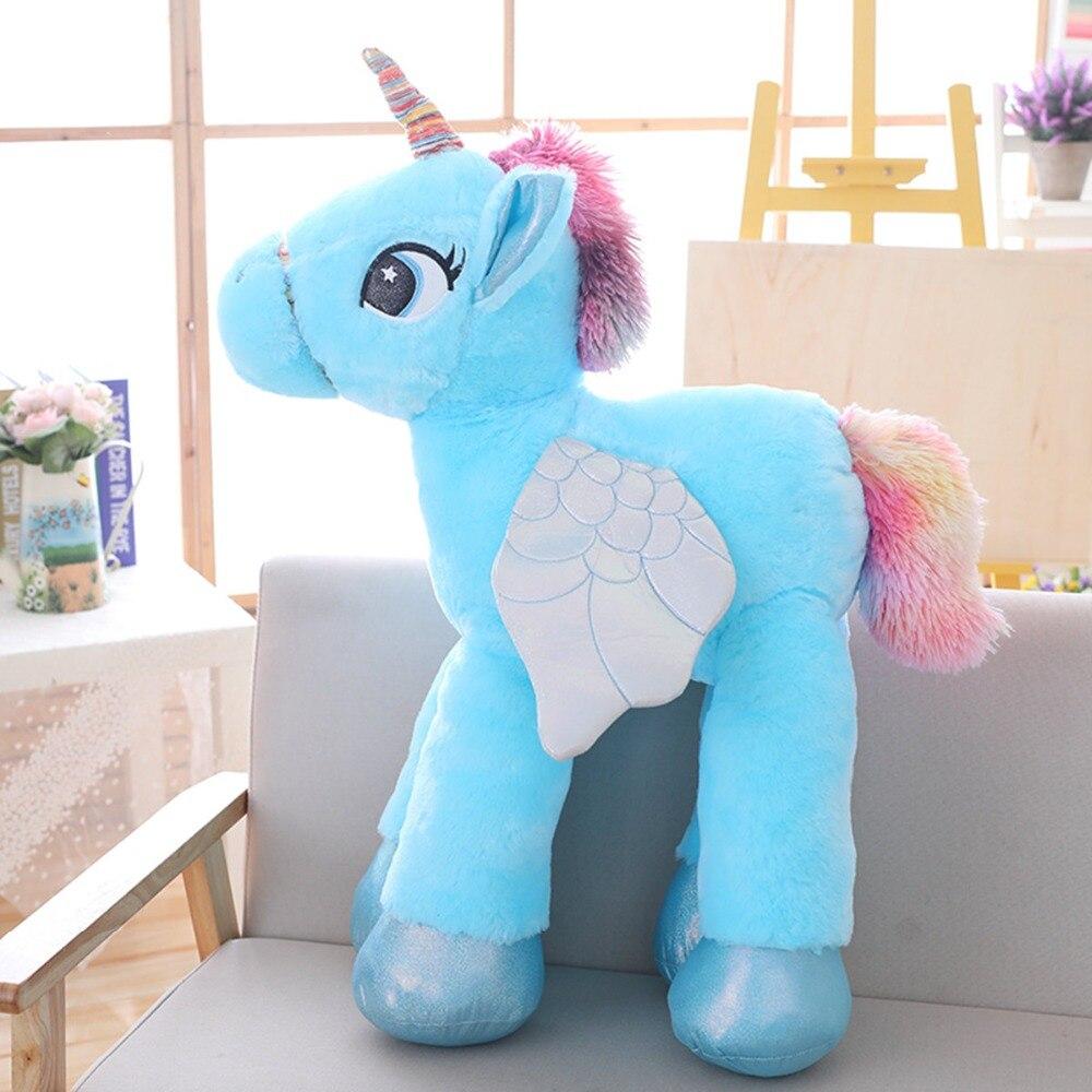 Vanmajor large licorne cute pink blue white unicorn doll jpg 1000x1000 Blue  unicorn stuffed animal large c2462caab75f